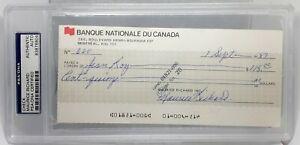 MAURICE RICHARD ⭐ ENCASED Signed Auto PSA/DNA Canada HOF Montreal Canadiens RARE