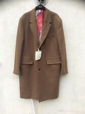 TOPMAN CURTIS KULIG ARTIST CROMBIE OVERCOAT NEW YORK CAMEL XL WOOL NEW FORMAL