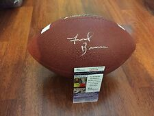 VIRGINIA TECH HOKIES FRANK BEAMER HAND SIGNED FOOTBALL W/ JSA COA