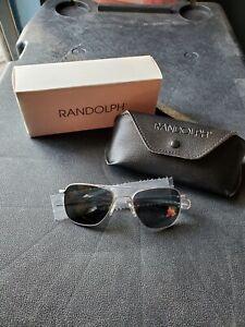 Randolph Aviator Sunglasses 52mm STB GR 1S Polarized USA Made