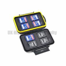 Kaavie Waterproof Anti-shock Memory Card Hard Case Holder for 8 x SD Cards