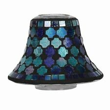 Aroma Accessories Mixed Mosaic Candle Jar Shade Blue 16 Cm