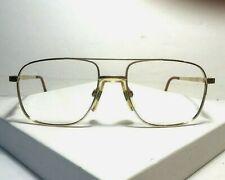True Vintage Luxottica Men's Gold Aviator Style Eyeglass Frame Italy