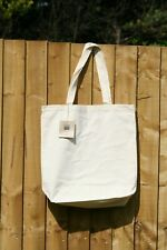 5 x ECOBAGS SKAL certified Organic Cotton Canvas Tote/Shopping Bag long Handles