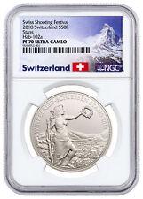2018 Switzerland Shooting Thaler Winkelried Silver 50F NGC PF70 UC SKU51613