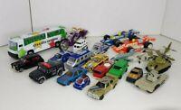 Diecast Vehicles Bundle - Cars, Bus, Plane, Trucks, Bike, Tanks, Police
