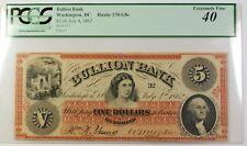 1862 $5 Note Bullion Bank Washington DC Haxby 170-G8c PCGS EF-40 RS