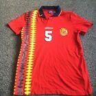 SPAIN 'Adidas' Home Shirt 1994-1996 'No 5' Espana World Cup Red (Large L)