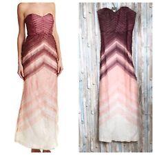 NWT Parker Black 10 Ombre Silk Chiffon Sweetheart Long Gown Dress $595