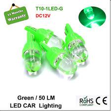 4Pcs Green T10 1 LED Car Wedge Dash Interior Light Globes Super Bright 12V New
