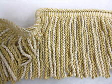 Fawn Bullion fringe DEEP 19cm fabric upholstery trimming SOLD PER MT sewing trim