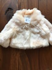 New Janie and Jack Pink Faux Fur Coat Girls 2T