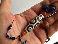 RARE Antique DZI Bead Necklace Chinese Tibetan