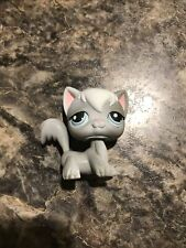Gray & White Angora Cat # 345 - Authentic Littlest Pet Shop - Hasbro Lps