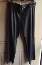 Vince Camuto Black Women's Size 8 Faux Leather Accent Cropped Slim Dress Pants