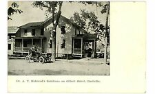 Rushville NY - DR A.T. HALSTEAD RESIDENCE & EARLY AUTO - Postcard