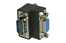 SVGA VGA Monitor Right Angle Angled Adaptor Adapter - Male to Female
