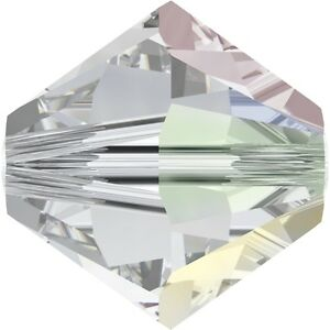 Swarovski Crystal Bicone 5328 - 6mm -Crystal  AB Factory Pack-360 pcs.