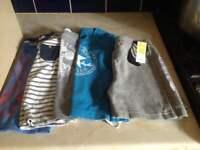 Boys Age 2-3 Summer T-Shirts & shorts bundle 5 items including Converse t-shirt