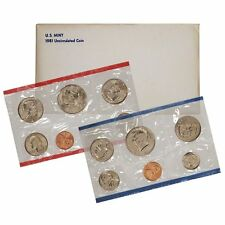 1981 P & D US Mint Set United States Original Government Packaging Box Cello