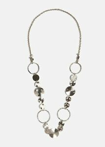 Phase Eight Kelly Ring Necklace Silver RRP29