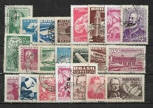 BRAZIL, 22 VARIOUS,  USED