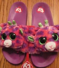 76ecbb29838 TY BEANIE BOO SLIDES~GILBERT the GIRAFFE~GIRL Size 4 5~NEW