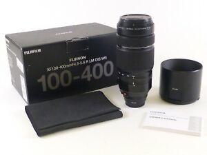 Fujifilm Fujinon XF 100-400mm F/4.5-5.6 R LM OIS WR Lens in OEM Box and in EC.