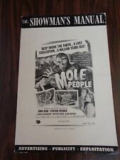 MOLE PEOPLE 1956 ORIGINAL PRESS BOOK LOT VG/FINE SCIFI +CURUCU MONSTERS