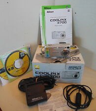 Nikon Coolpix 3700 + battery charger + More TESTED AND WORKING