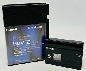 Canon Digitalmaster HDV 63 Min Digital Videocasette HDVM-E63PR