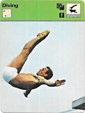 1977 Sportscaster Card Diving # 05-04 NRMINT / MINT.