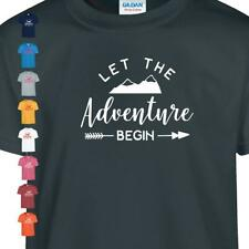 Let The Adventure Begin Kids Summer Explore Holiday Travel Youth Gift T shirt