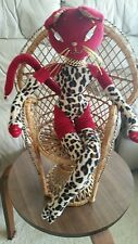 "RARE 2004 Glamkats Poseable Plush Cat Doll 24"" WITH WICKER CHAIR!!!!"