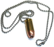 Bullet Necklace Neck Chain .45 ACP Hollow Point Metal Jacket Brass Casing - NEW