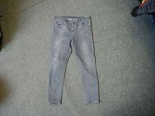 "Moto Topshop Skinny Jeans Waist 34"" Leg 26"" Faded Grey Ladies Jeans"