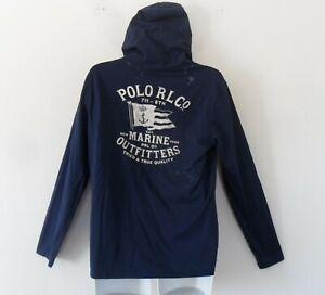 nw~Ralph Lauren Polo Marine Outfitter Cotton Jersey Hoody Top T-Shirt~Men sz 2XL