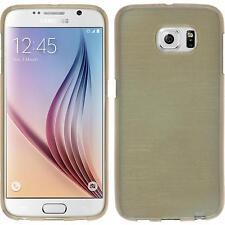 Silikon Hülle für Samsung Galaxy S6 gold brushed + 2 Schutzfolien
