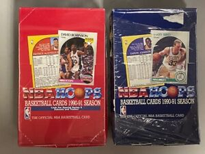 1990-91 NBA Hoops Series 1 and 2 Sealed Boxes 36 Packs / 15 Cards Per Pack