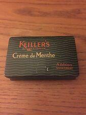 Vintage Advertising Tin, Keiller's Creme De Menthe, Dundee, London, England
