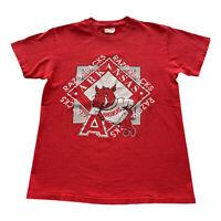 VTG 90s Arkansas Razorbacks NCAA Hanes Heavyweight Red Logo T Shirt Men's Medium