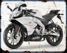 APRILIA Rs4 50 13 02 A4 Metal Sign moto antigua añejada De