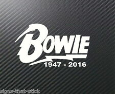 RIP David Bowie Memorial Remembrance Car sticker Decal  #1