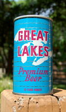 "Dreamy Great Lakes ""White Lakes"" Pull Tab Beer Can! B/O'ed!"