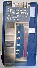 Closet Organizer 6 Shelf Easy Home Blue