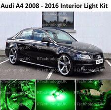 GREEN PREMIUM AUDI A4 S4 B8 2008 - 2016 LED INTERIOR UPGRADE KIT SET XENON