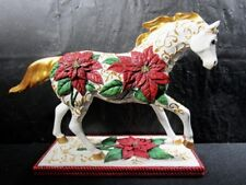 """2007 Trail Of Painted Ponies """" Poinsettia Pony """" Horse Detailed In Box"""