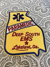 Paramedic Deep South EMS Lakeland Georgia Embroidered Patch Movie Prop #82