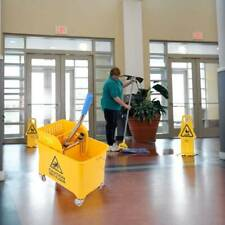 Samger 5 Gallon Mini Mop Bucket w/Wringer Combo Commercial Rolling Cleaning Cart