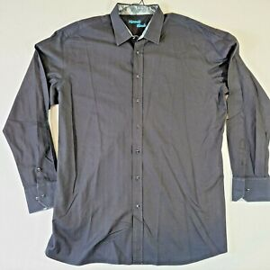 Beautiful VISCONTI BLACK Men's 3XLT Designer Dress Shirt Big Tall!